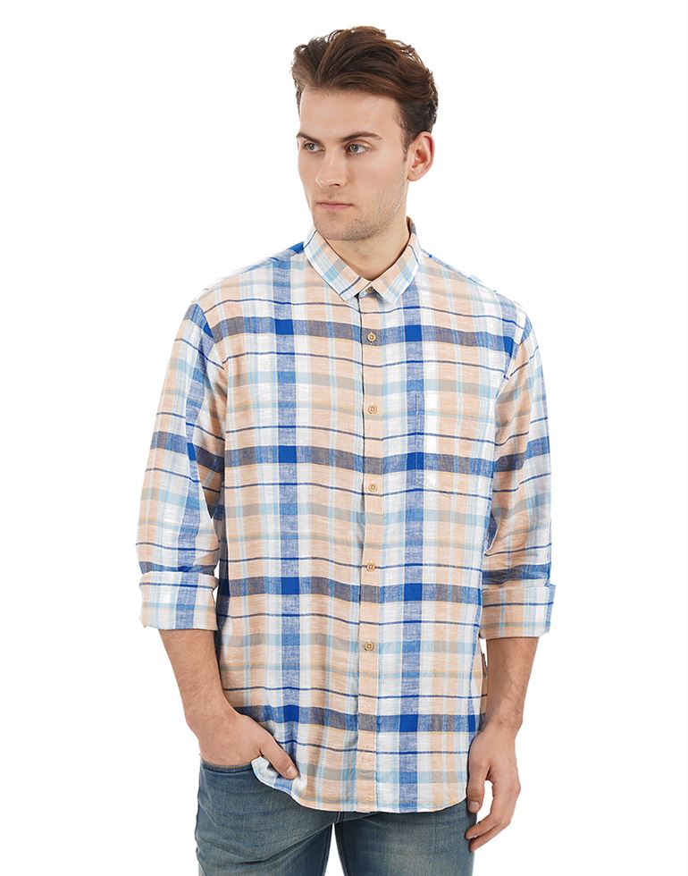 French Connection Casual Wear Checkered Men Shirt