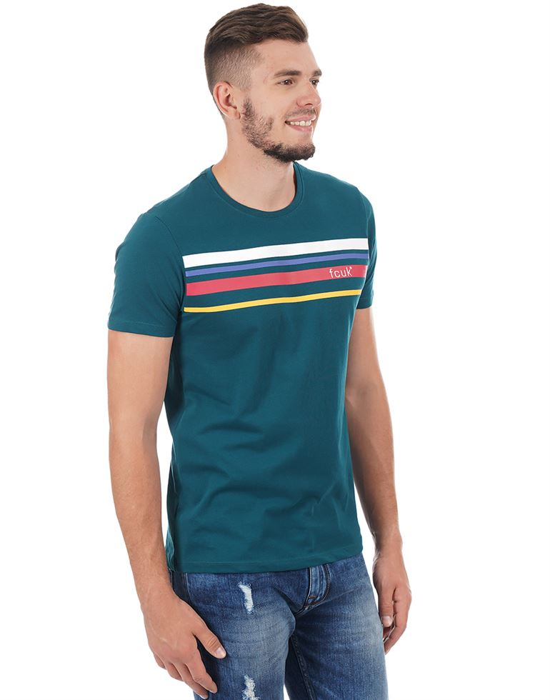French Connection Men Casual Wear Chest Print T-Shirt