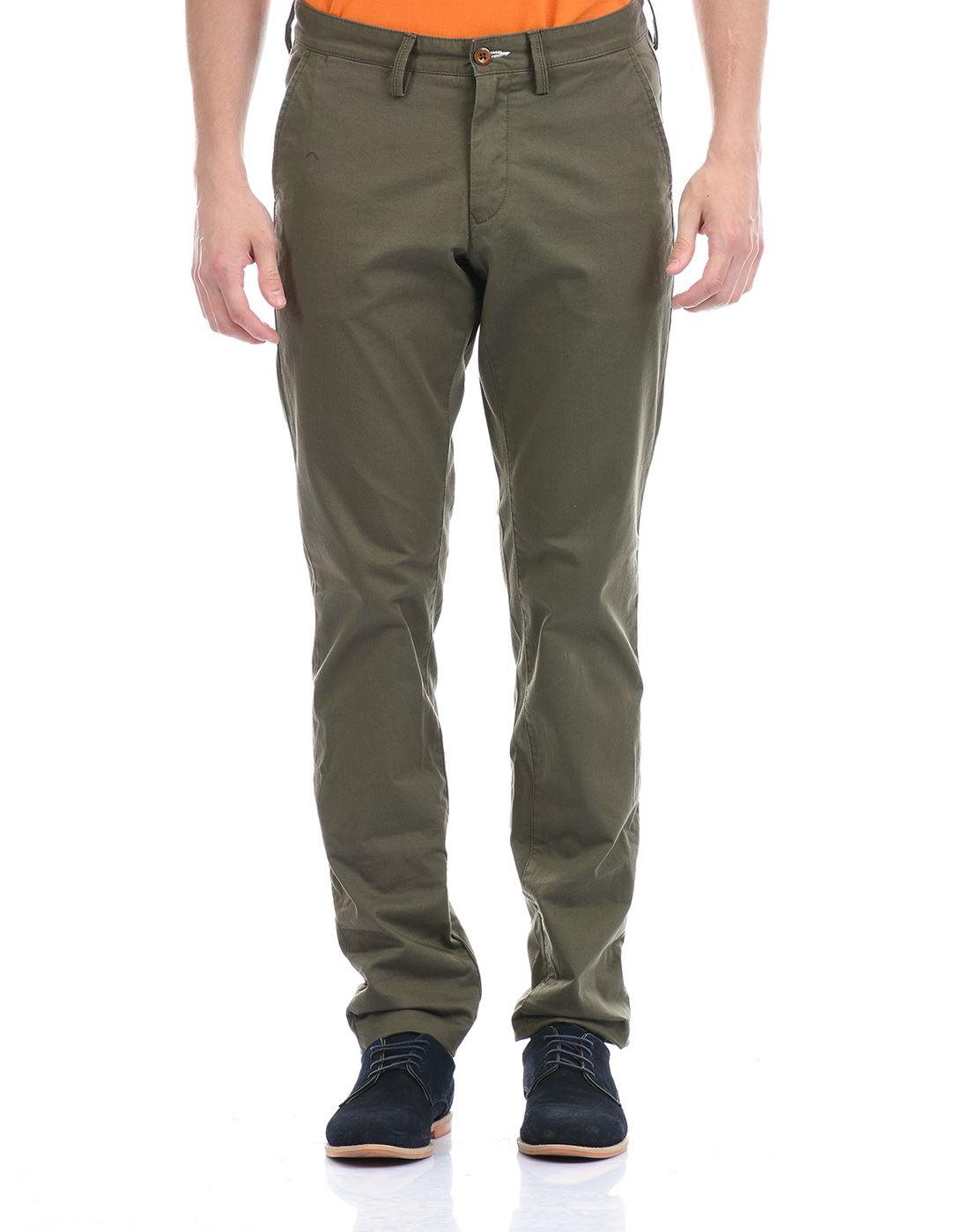 Gant Men Casual Wear Olive Trouser