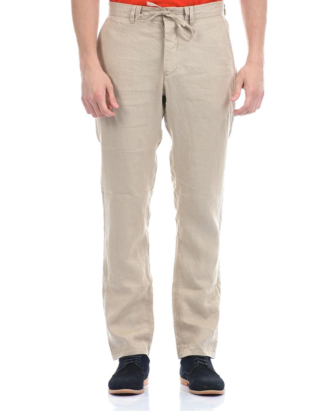 Gant Men Casual Wear Beige Trouser