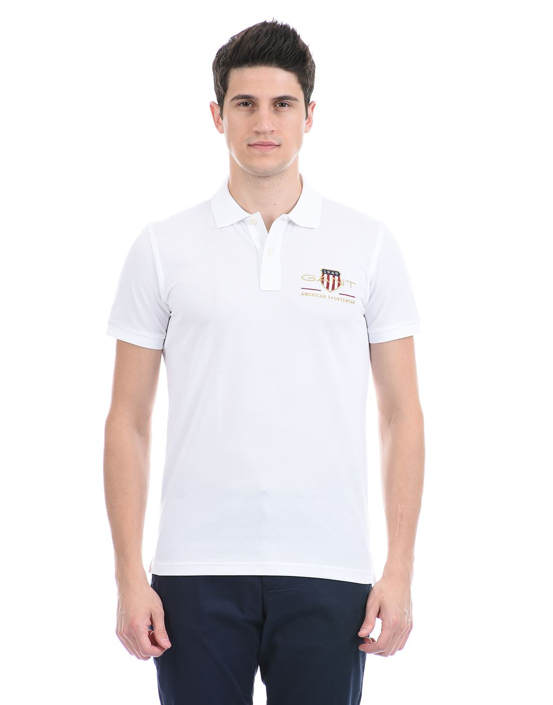 Gant Men Casual Wear White T-Shirt