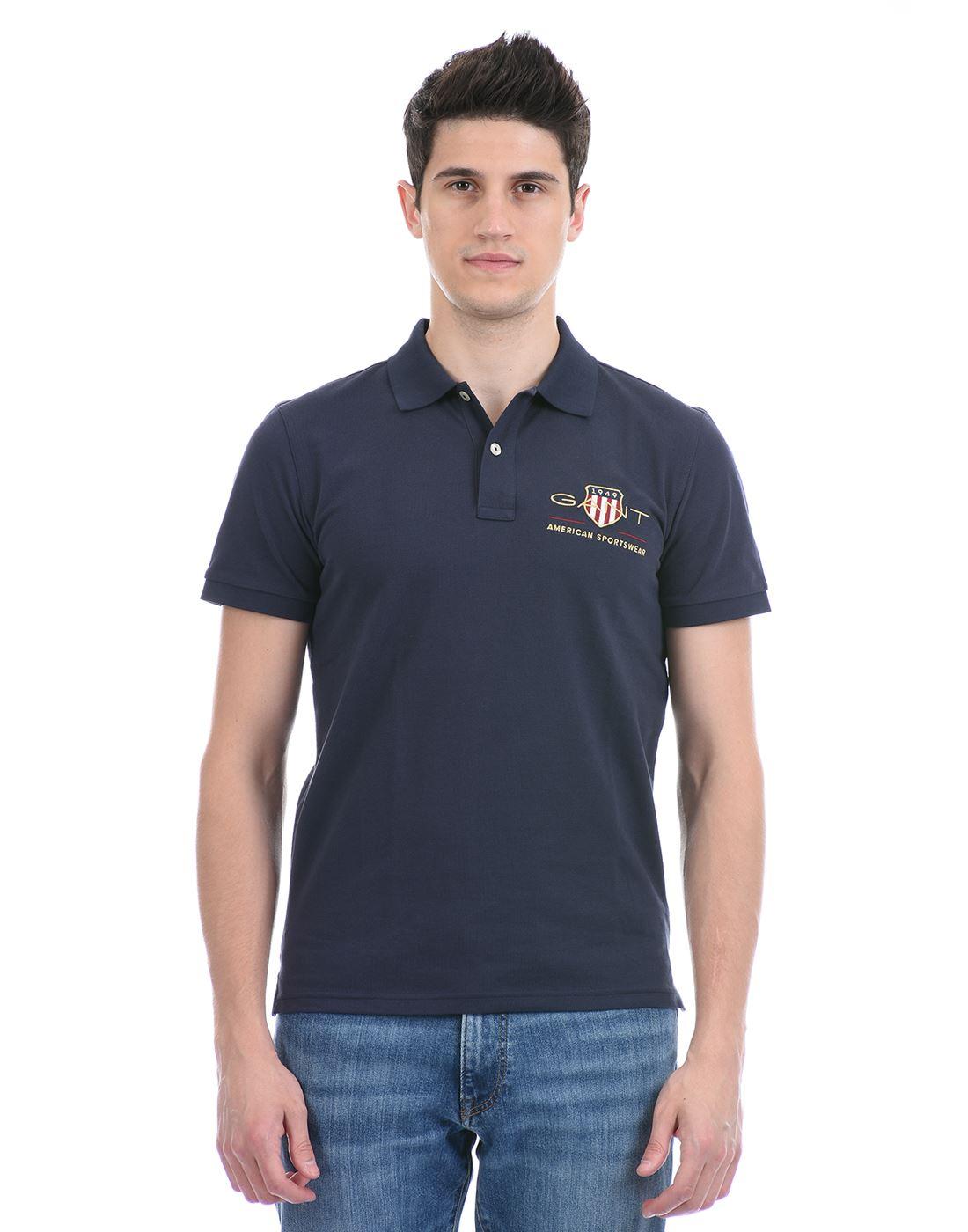 Gant Men Casual Wear Blue T-Shirt