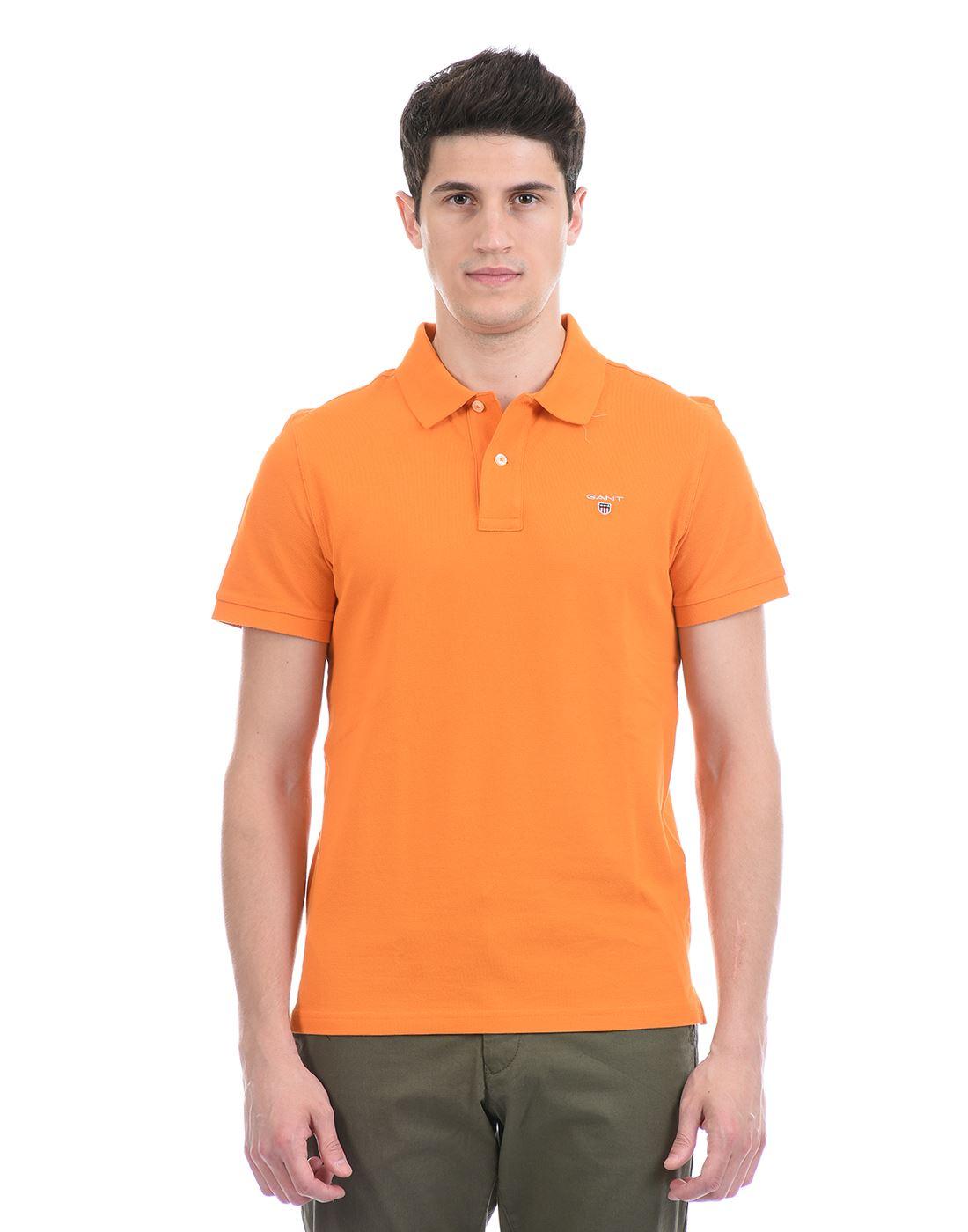Gant Men Casual Wear Orange T-Shirt