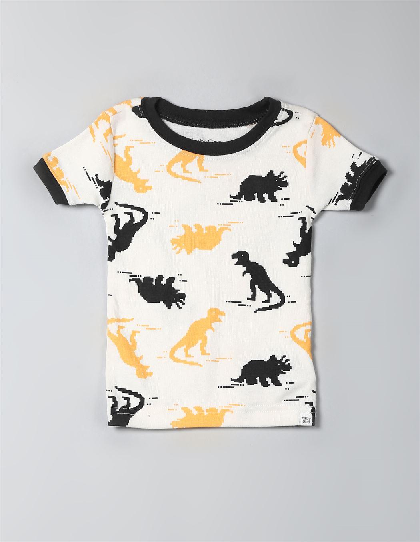 Gap Boys Off White Printed Set of T-Shirt & Shorts