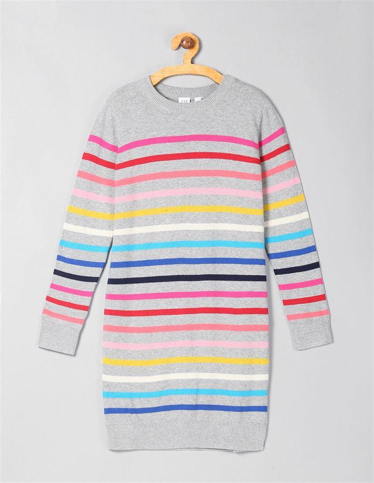 Gap Girls Multicolor Striped Dress