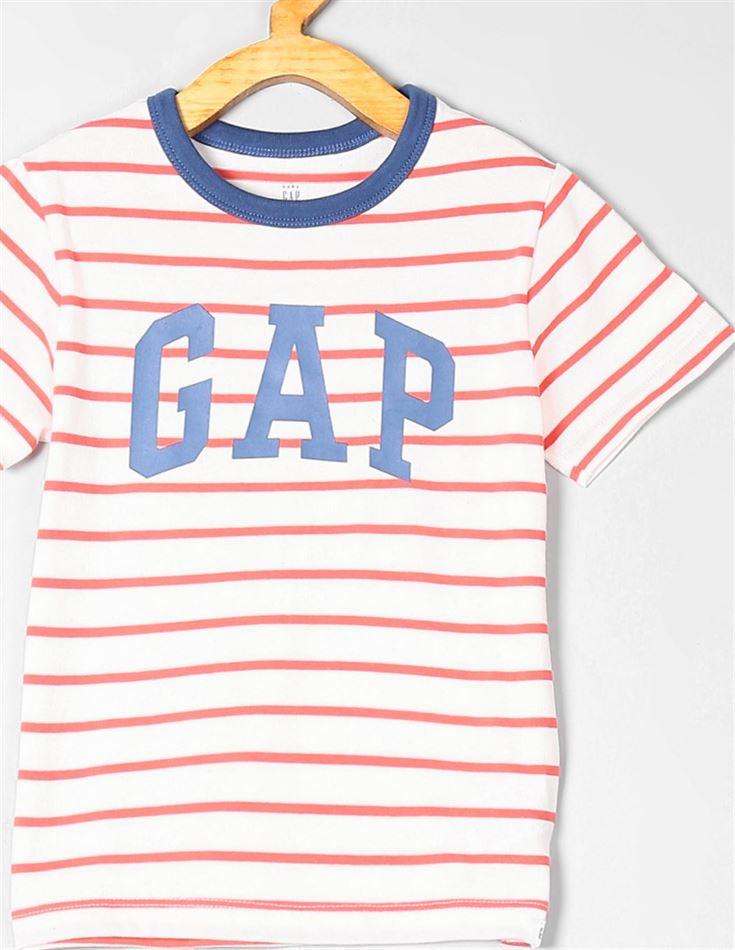 GAP Boys Red Striped T-Shirt