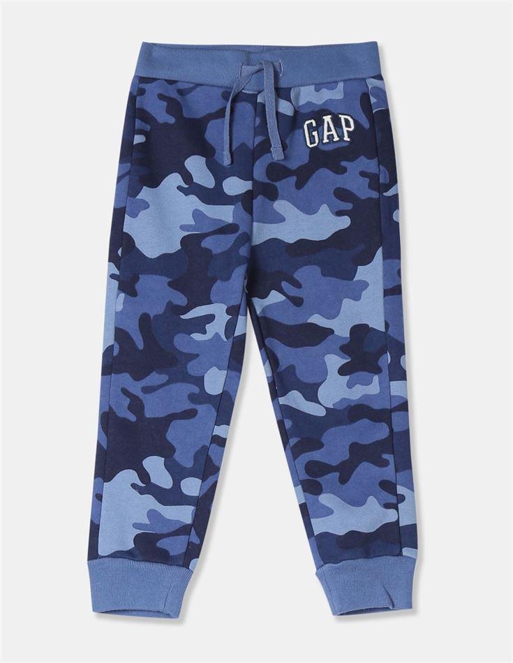 GAP Boys Blue Printed Joggers