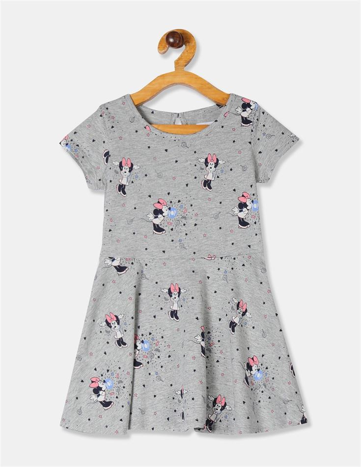GAP Girls Grey Printed Dress