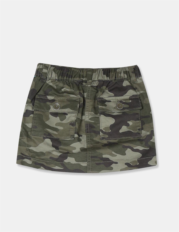 GAP Girls Green Printed Skirt
