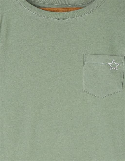 GAP Girls Green Printed T-Shirt