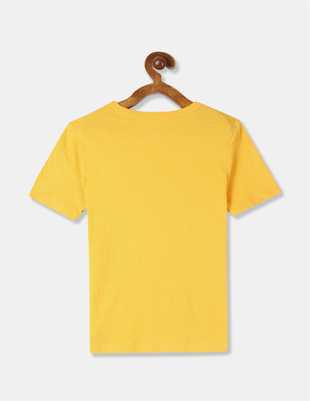 GAP Boys Yellow Printed T-Shirt