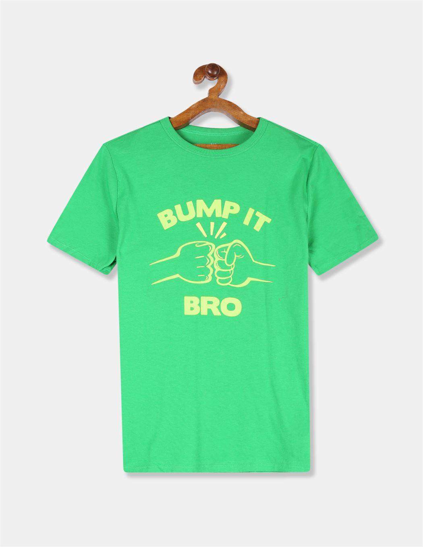 GAP Boys Green Printed T-Shirt