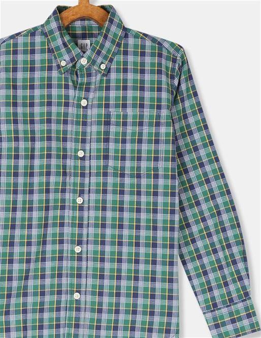 GAP Boys Blue Checkered Shirt