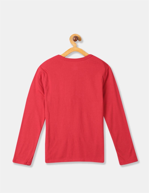 GAP Boys Red Printed T-Shirt