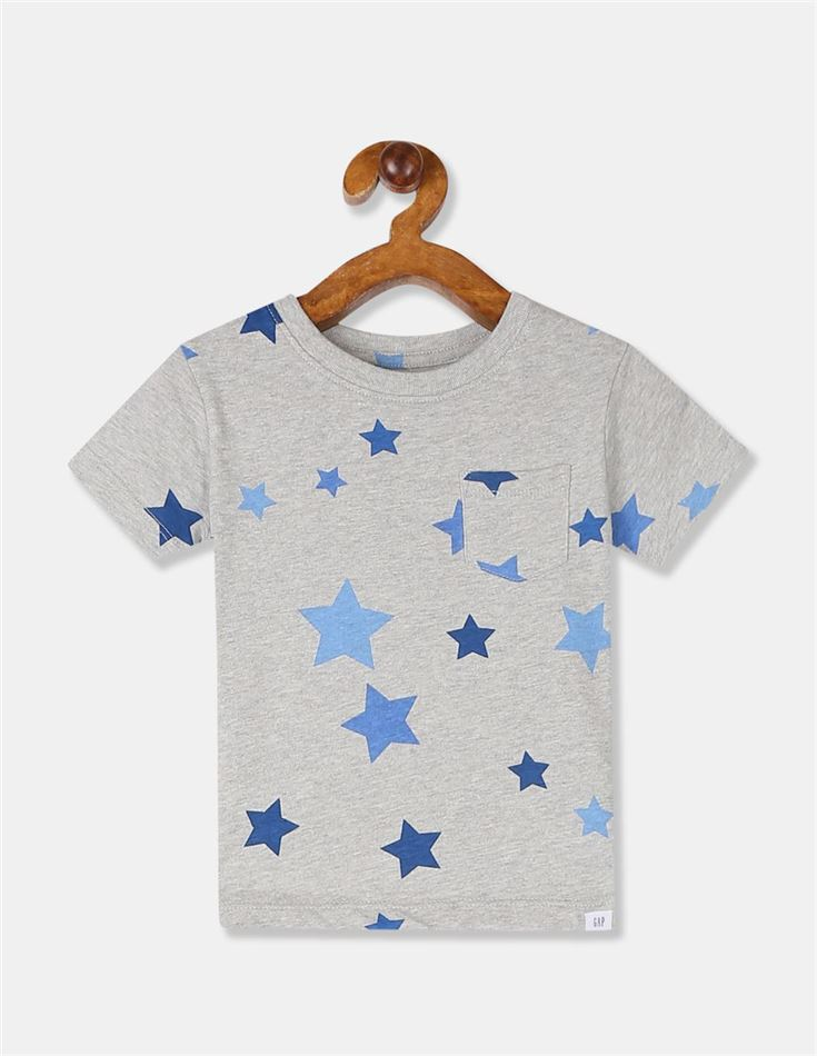 GAP Boys Grey Printed T-Shirt