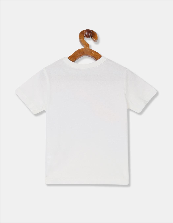GAP Boys White Printed T-Shirt