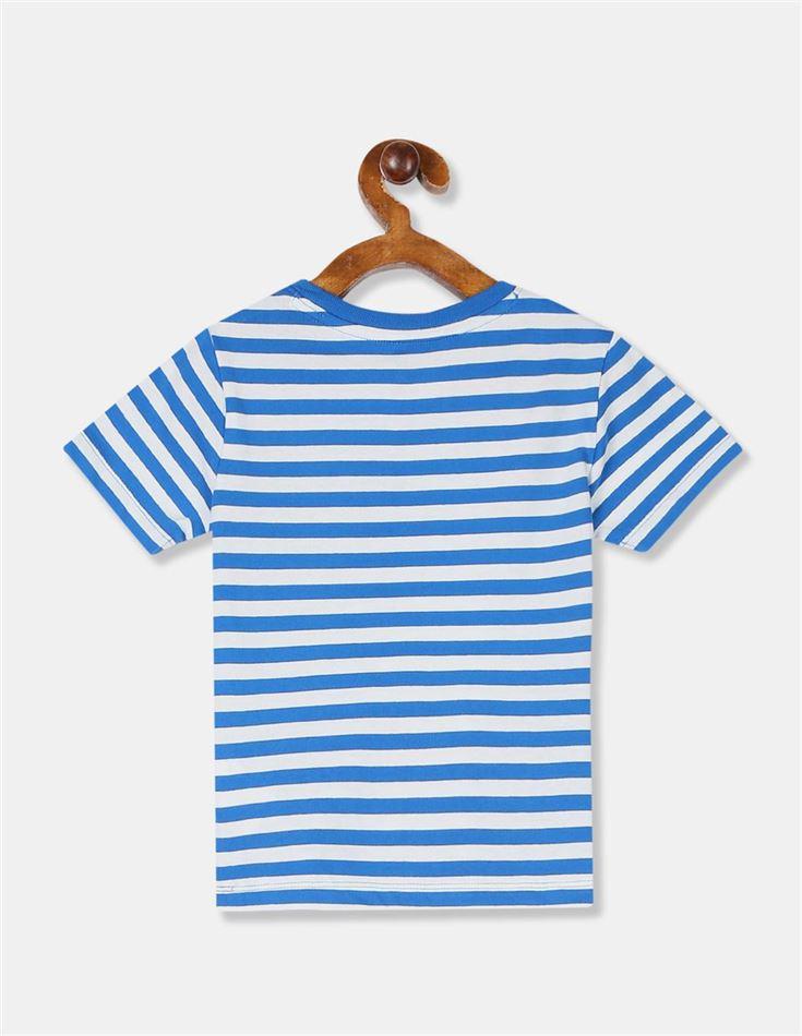 GAP Boys Blue Striped T-Shirt