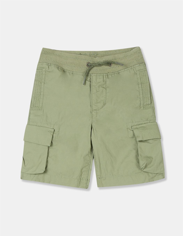 GAP Boys Green Solid Shorts
