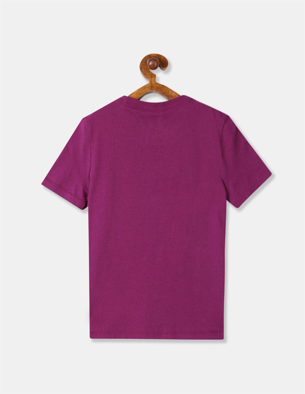 GAP Boys Purple Printed T-Shirt