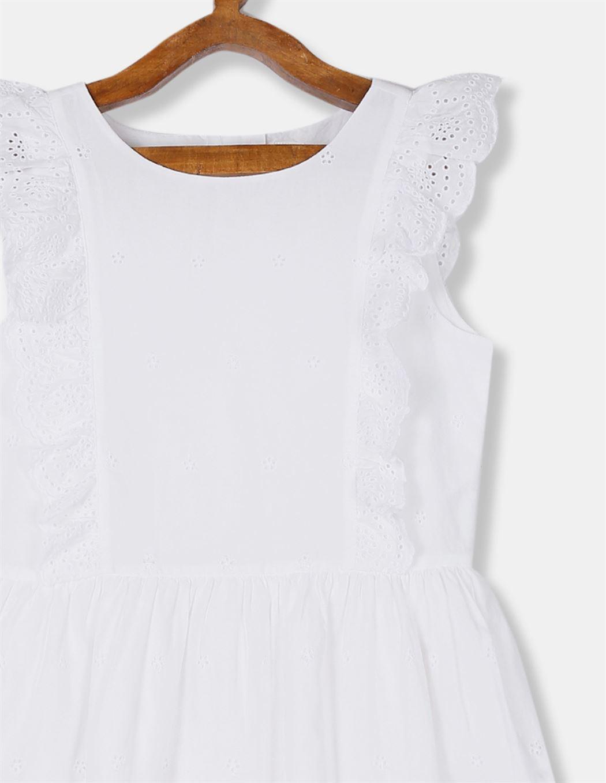GAP Girls White Embroidered Dress