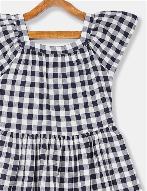 GAP Girls Blue Checkered Dress
