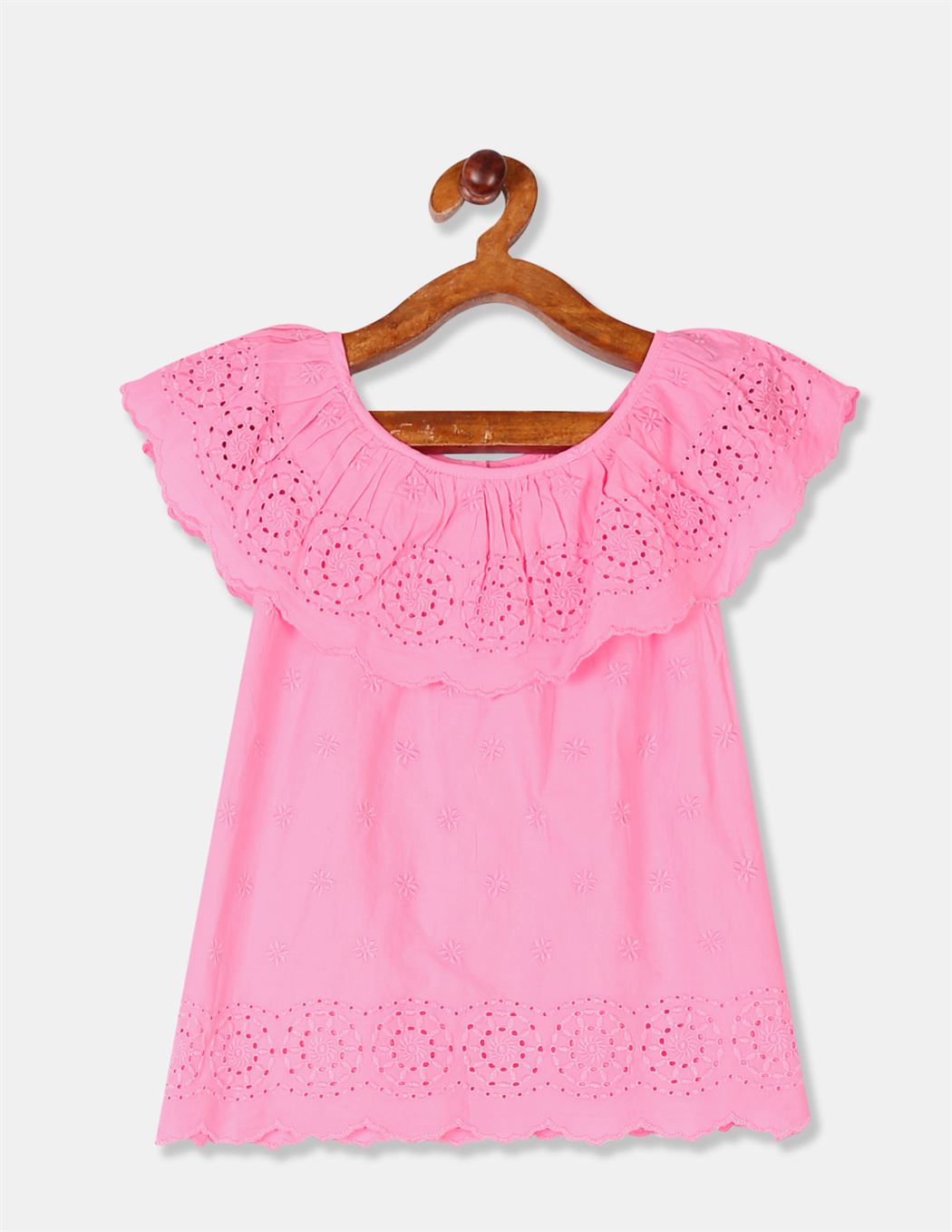 GAP Girls Pink Embroidered Top