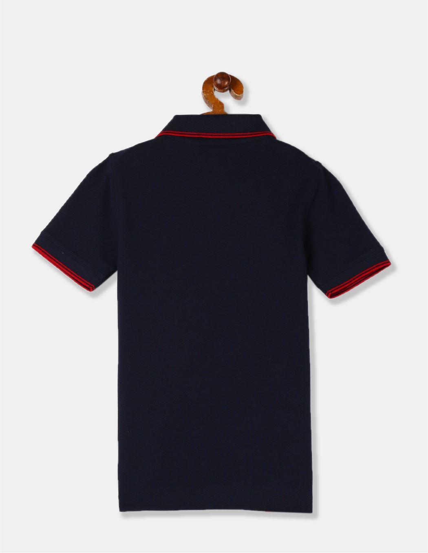 GAP Boys Blue Solid T-Shirt