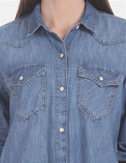 Gap Women Casual Wear Blue Shirt
