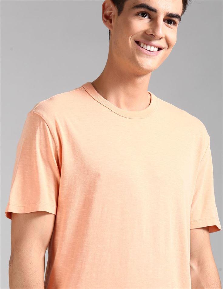 Gap Men Casual Wear Orange T-Shirt