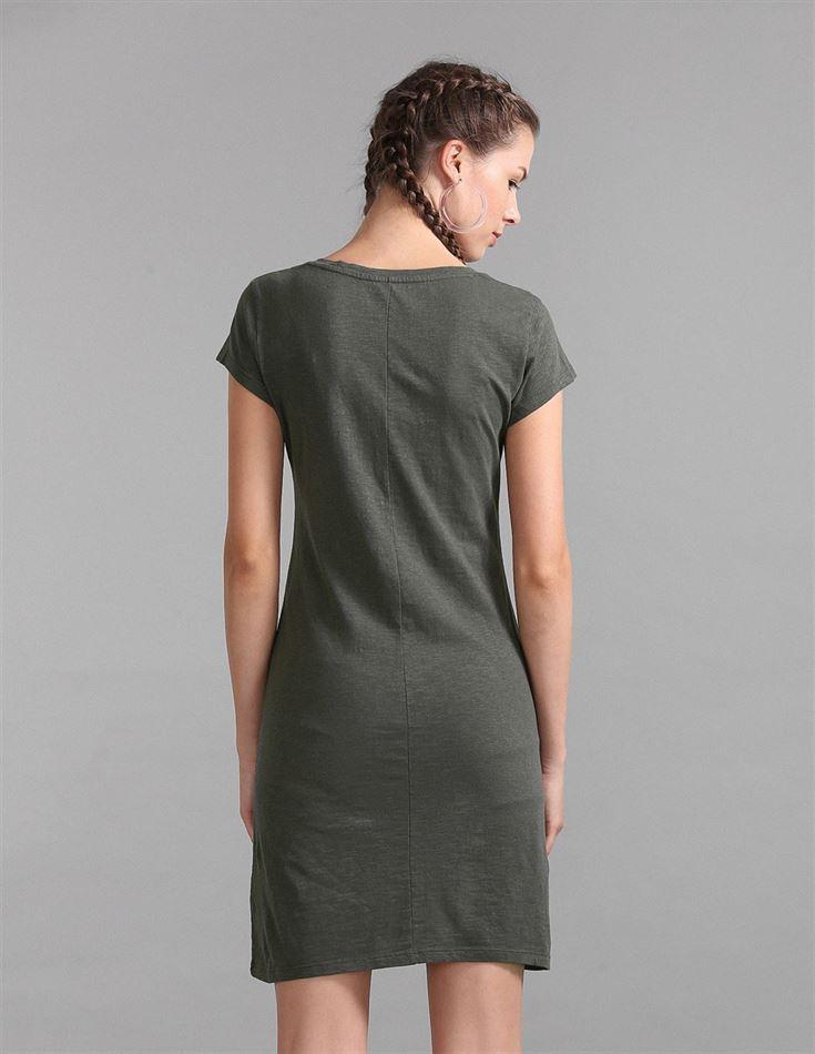 Gap Women Casual Wear Olive T-Shirt Dress