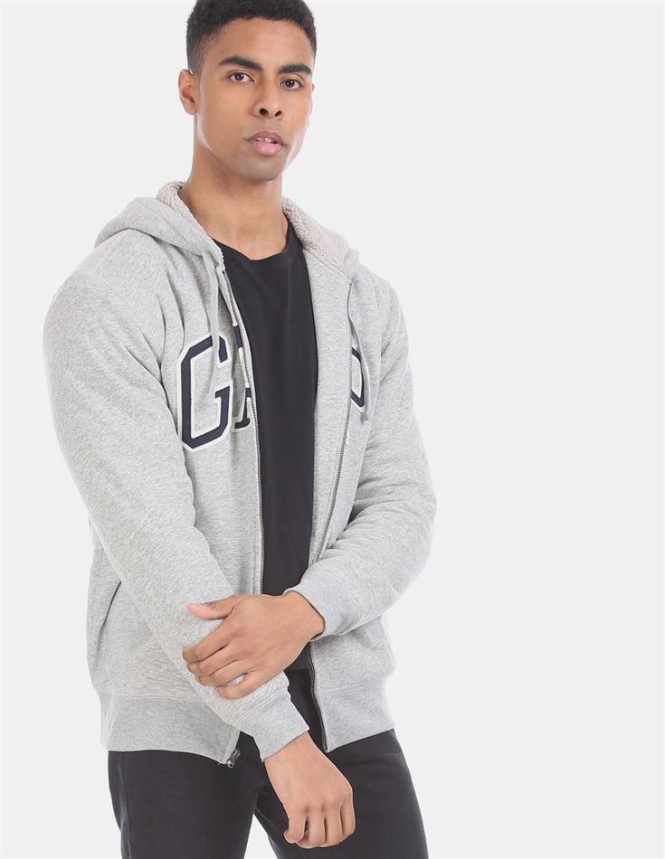Gap Men Casual Wear Grey Sweatshirt