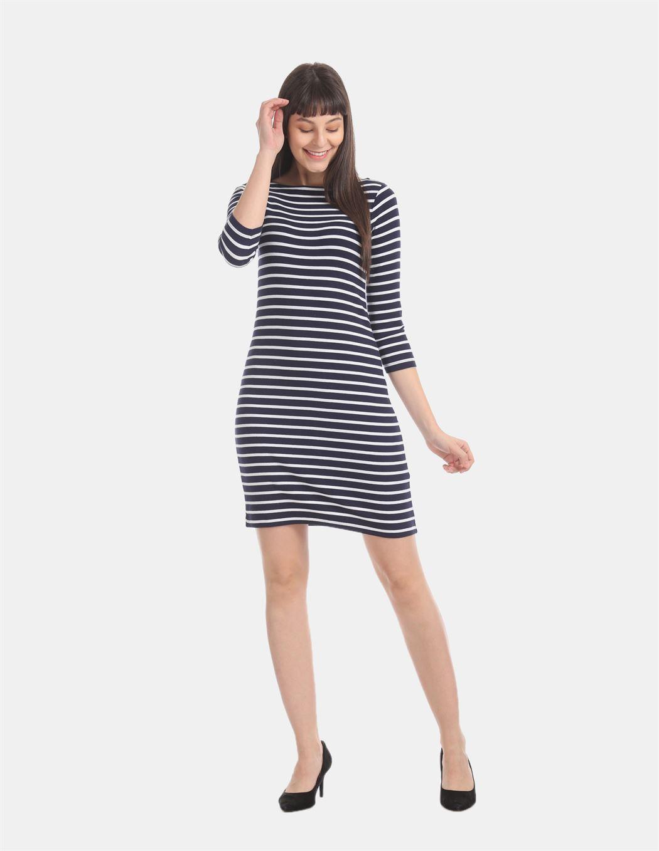 Gap Women Casual Wear Navy Blue Bodycon Dress