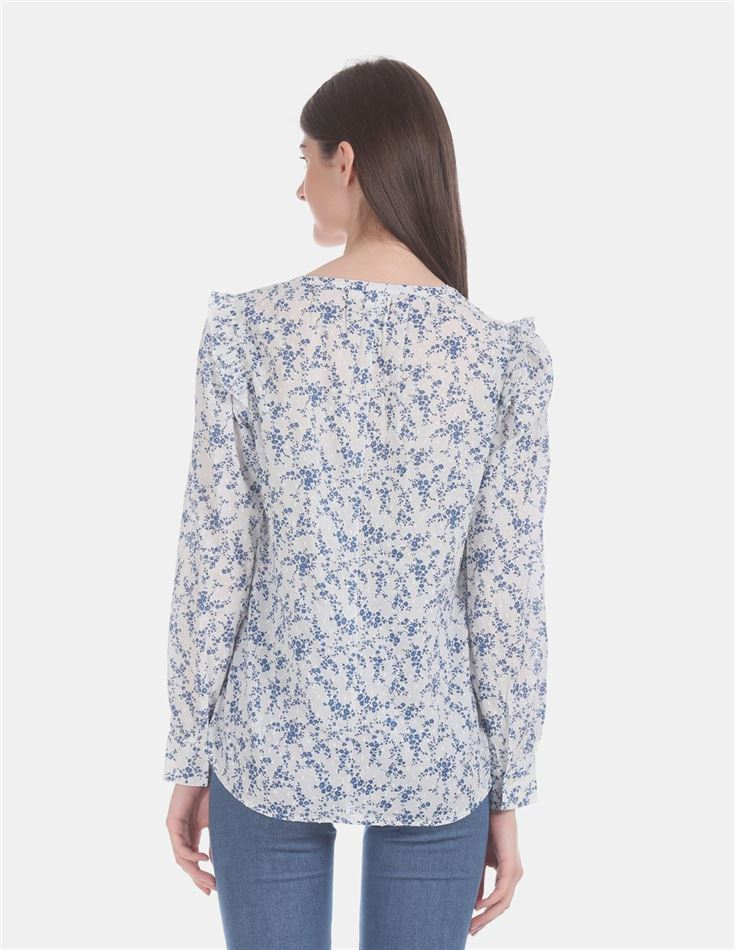 Gap Women Casual Wear White Top