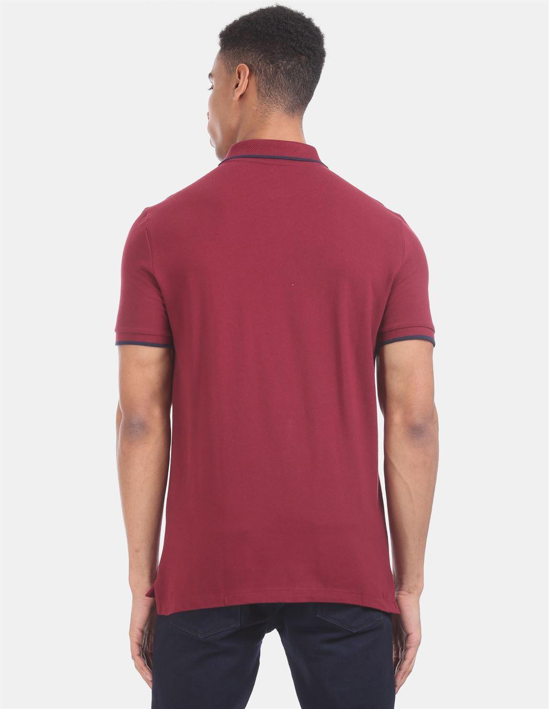 Gap Men Casual Wear Maroon T-Shirt