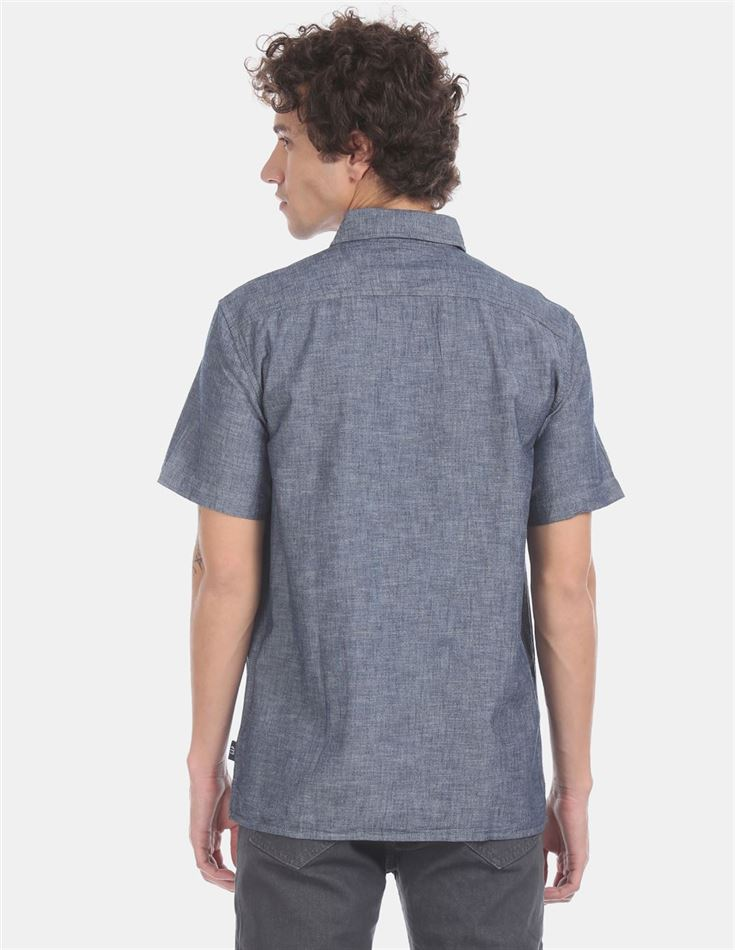Gap Men Casual Wear Blue Shirt