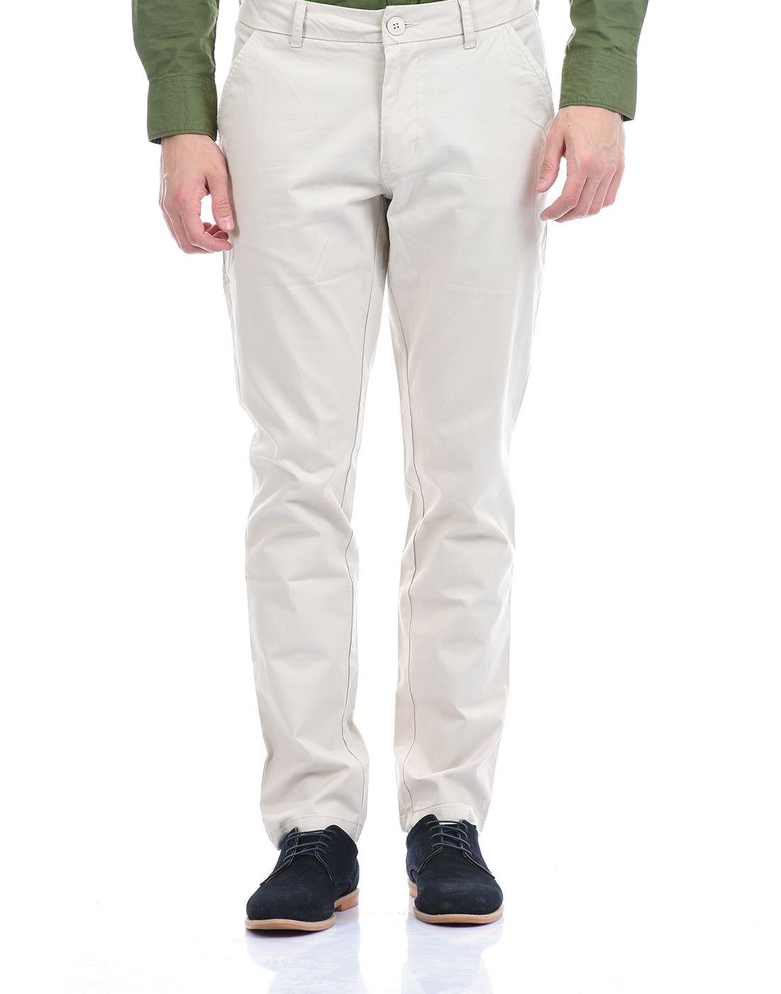 Gas Jeans Men Casual Wear Off White Trouser