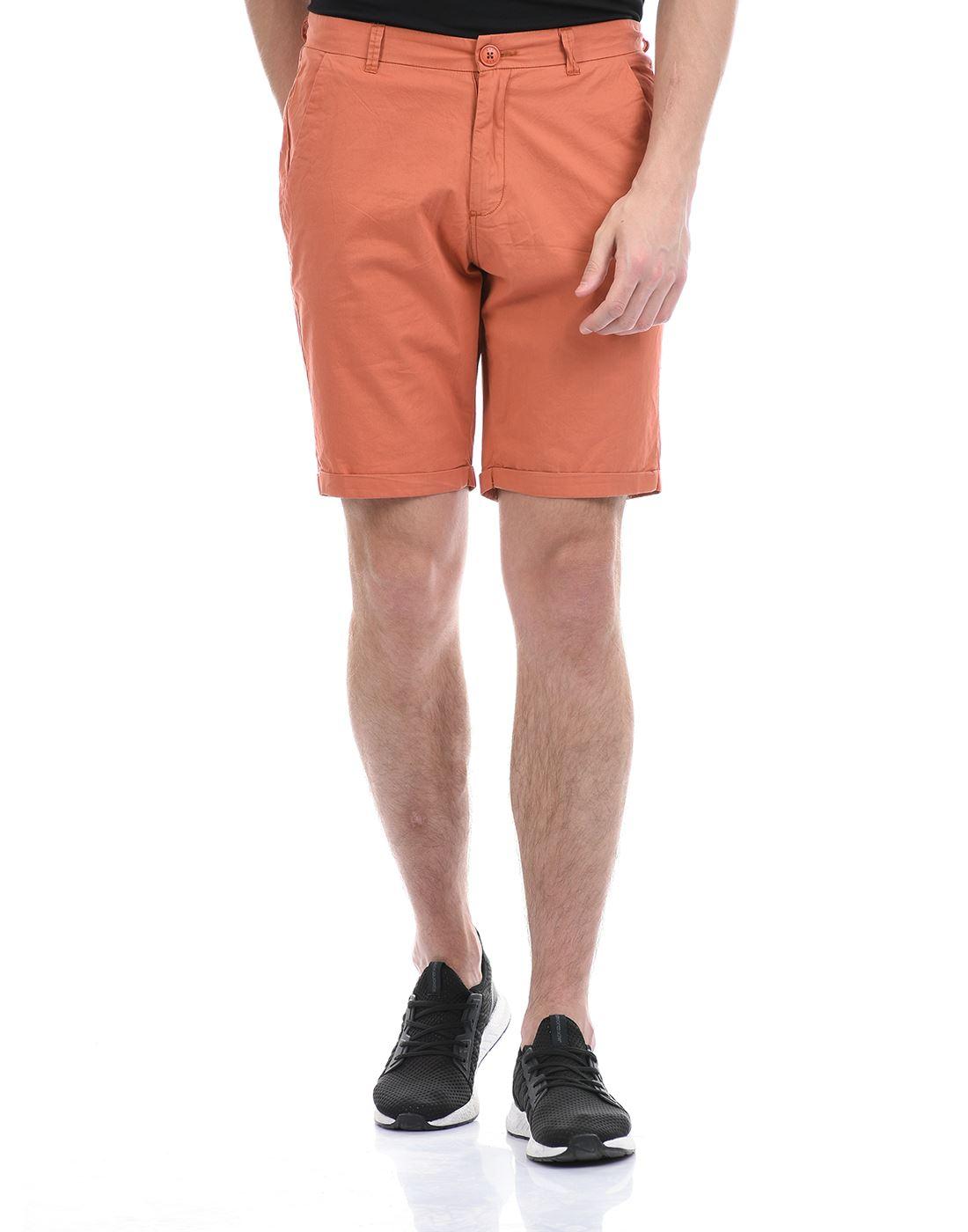 Gas Jeans Men Casual Wear Orange Shorts