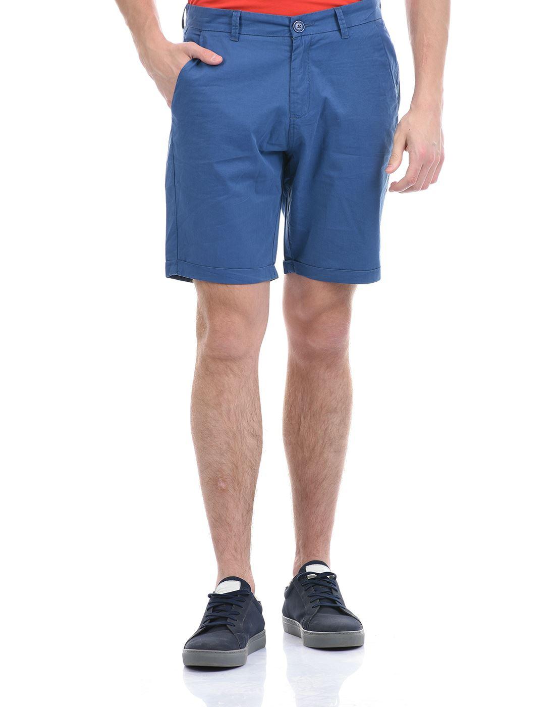 Gas Jeans Men Casual Wear Blue Shorts