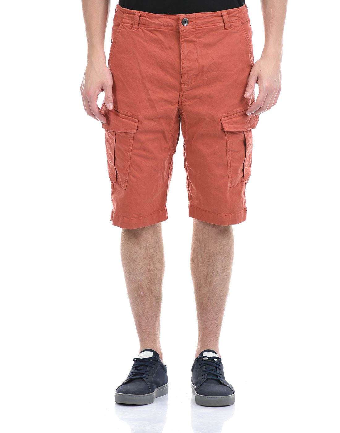 Gas Jeans Men Casual Wear Red Shorts