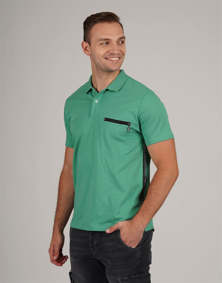 Gas Men Casual Wear Solid Polo T-Shirt