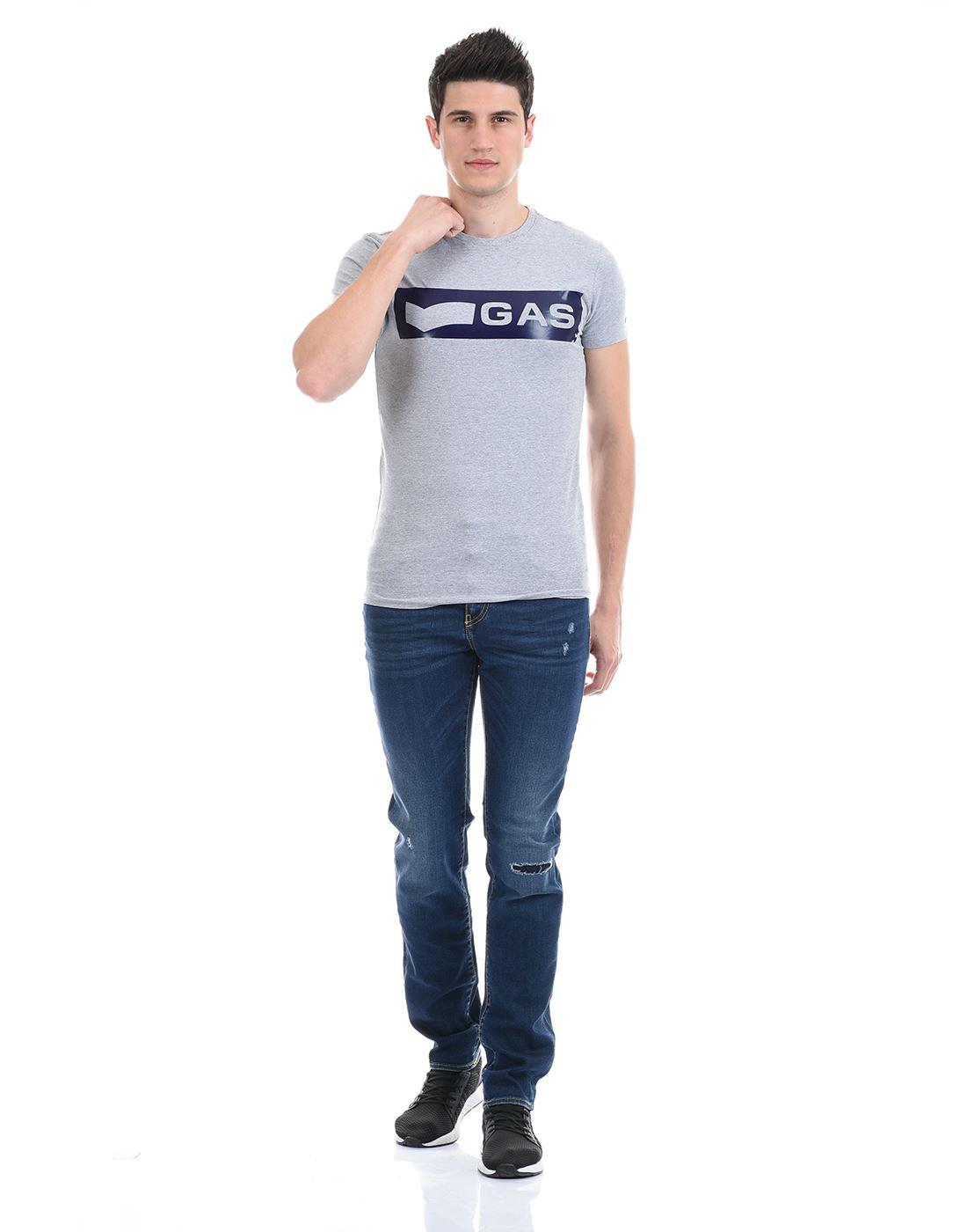 Gas Jeans Men Casual Wear Blue Jeans