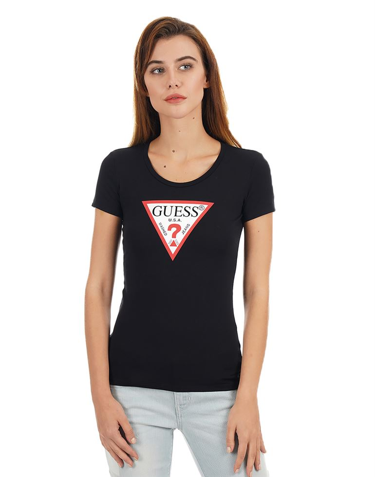 Guess Women Printed Casual Wear T-Shirt