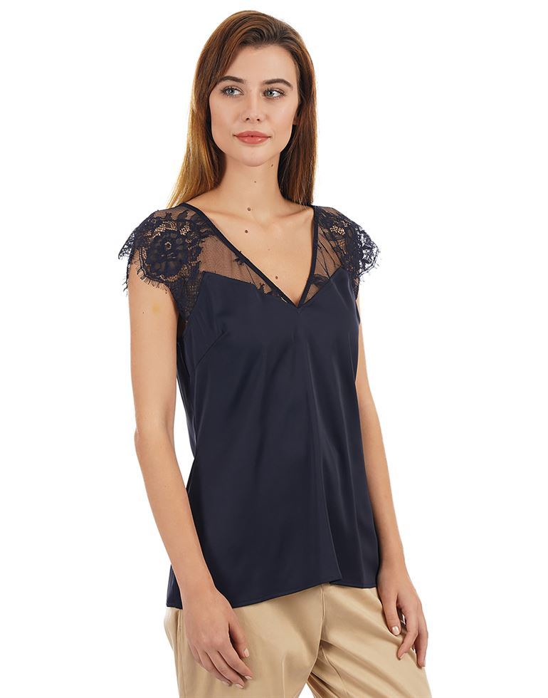 Guess Women Solid Casual Wear Top