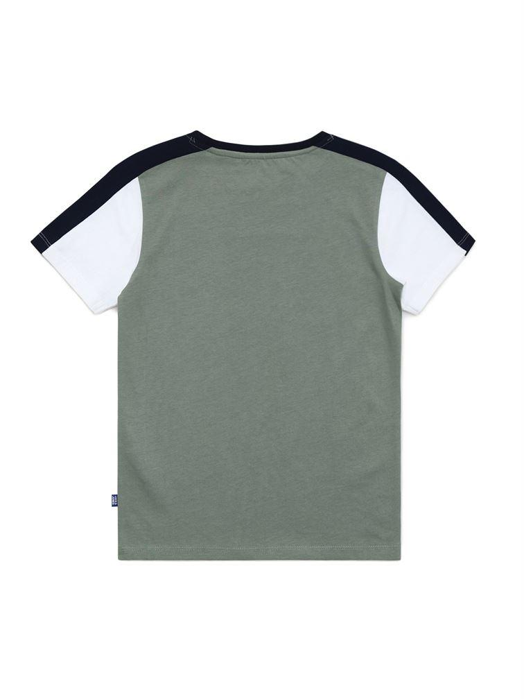 Jack & Jones Junior Green T-Shirt For Boys