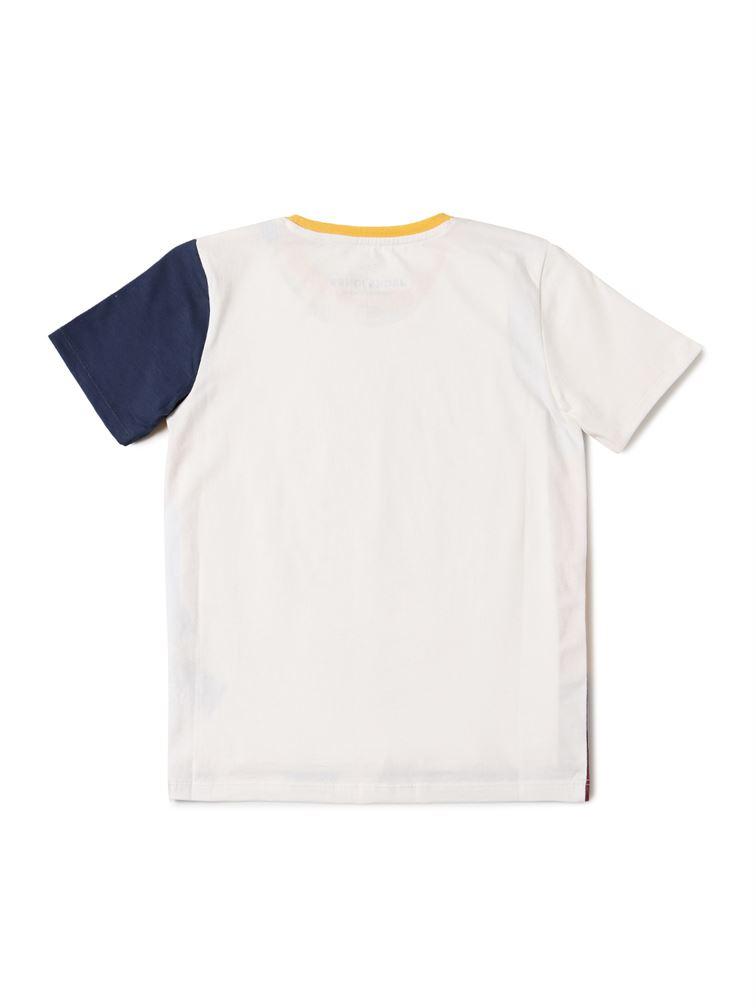Jack & Jones Junior Off-White T-Shirt For Boys