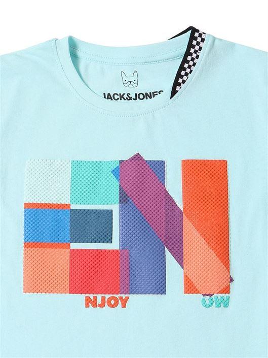 Jack & Jones Junior Light Blue T-Shirt For Boys