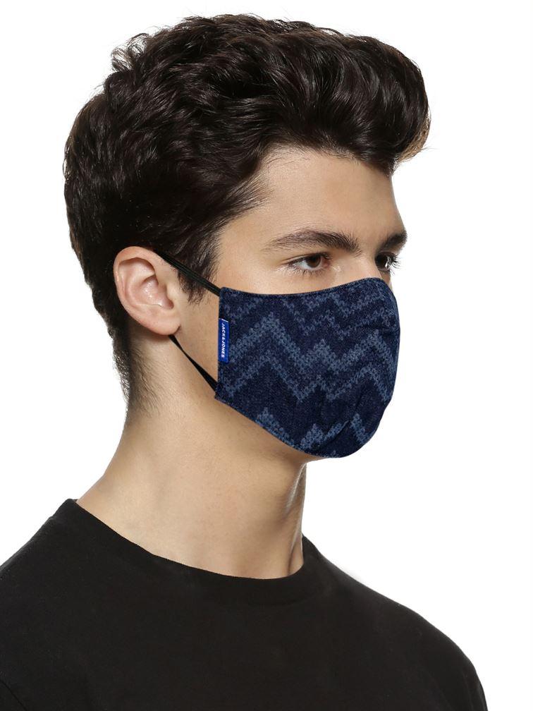 Jack n Jones Men Reusable 3 Layer Protective Fashion Denim Mask (Pack Of 3)