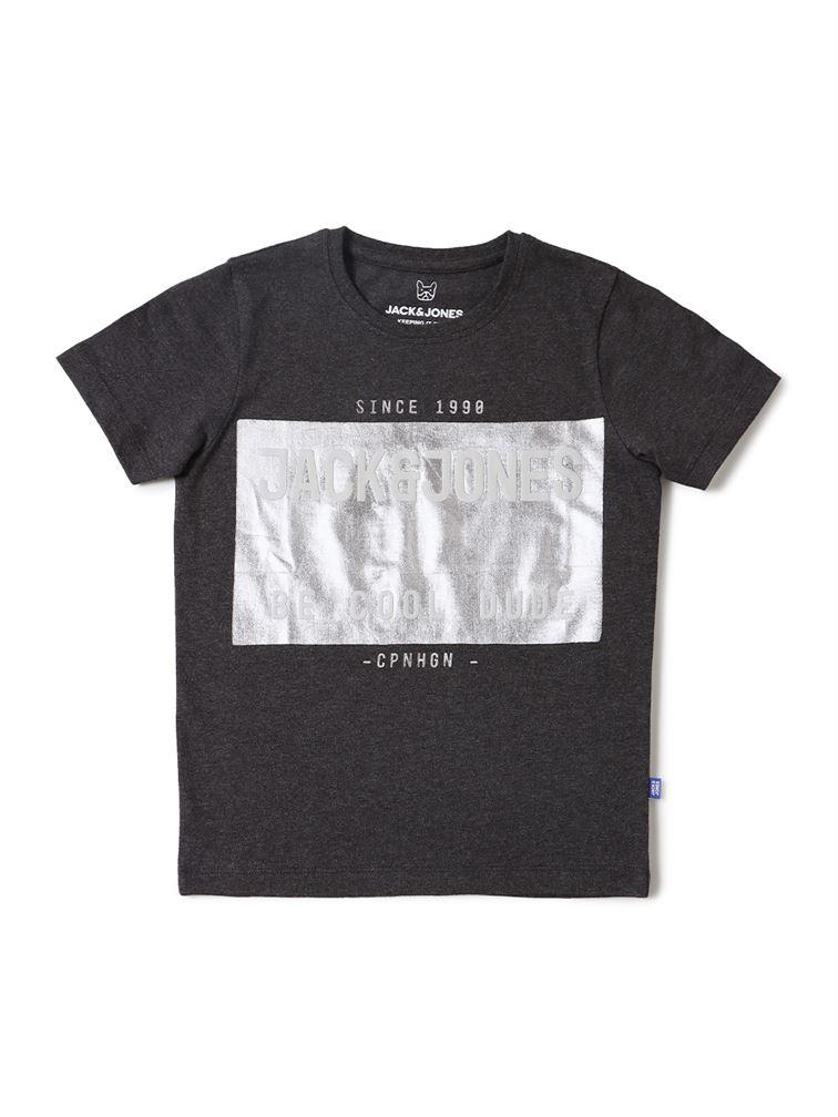 Jack & Jones Junior Grey T-Shirt For Boys