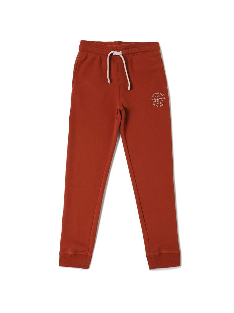 Jack & Jones Junior Red Track Pant For Boys