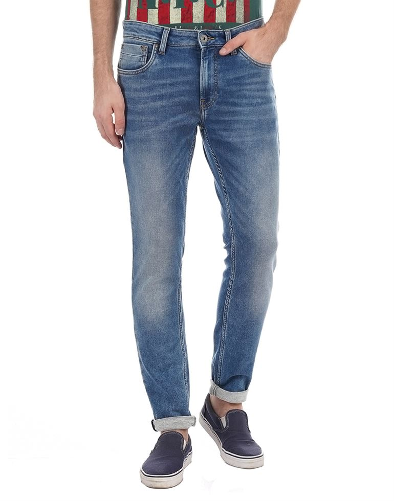 Jack n Jones Men Casual Wear Solid Jeans